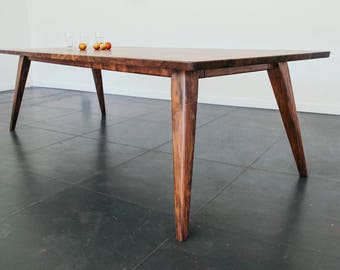 Oregon Walnut Mid-Century Modern Dining Table