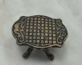 Miniature Sterling Silver Dollhouse Table