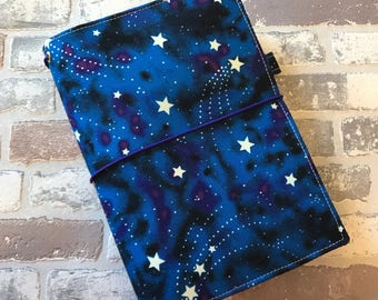 B6 Size Fabric Fauxdori -MADE TO ORDER - Fabric Travelers Notebook