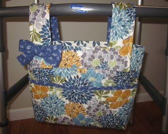 Quilted Mums Walker or Rollator Bag Makes a Pretty Impression!
