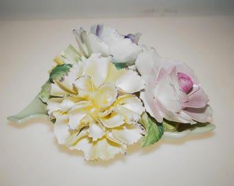 """Vintage Radnor Staffordshire England Fine Bone China Flower Bouquet 5.5"""""""