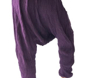 "HL0120  Harem Pants super soft rayon baggy unisex harem pants have the ""flow"", perfect of yoga"
