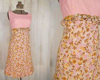 1960s Dress - Vintage 60s Twiggy Mod Mini Dress, Sleeveless Pink Go Go Dress