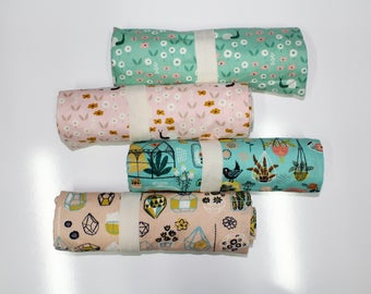 Garden Prints: ORGANIC Changing Pad, Waterproof Travel Size Changing Pad, Baby Changing Mat, On the Go Changing Mat