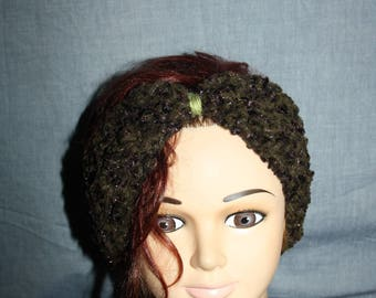 headband crocheted mohair and acrylic