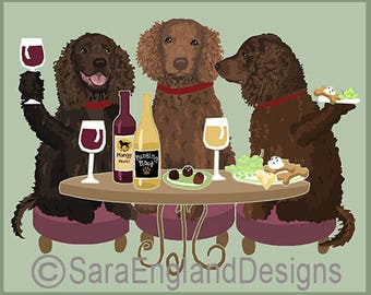 Dogs WINEing - American Water Spaniel
