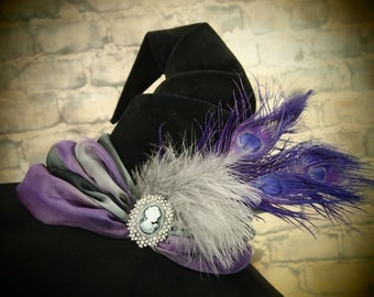 """Witch Hat """"Purple Peacock"""""""