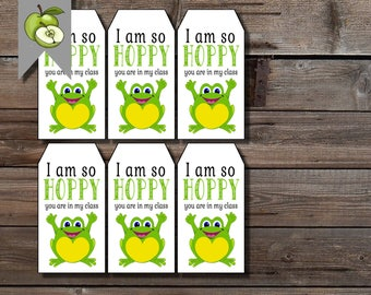 Frog tags, I am so hoppy you are in my class gift tag, frog gift, Hoppy teacher schools tag, class gift, teacher printable, I am so hoppy