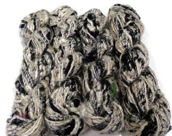 SALE Premium Recycled Banana Silk Yarn, Zebra