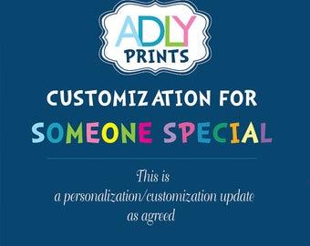 Customizing Personalizing my order