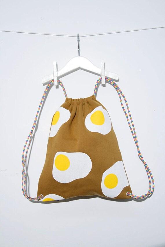 Fried egg travel backpack/bag