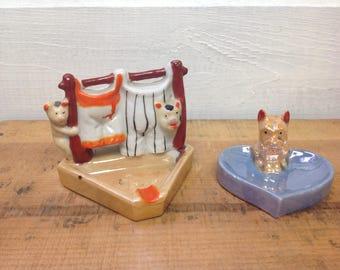 Set of 2 Vintage Japan Ash Trays