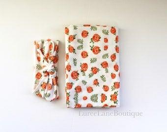 Baby girl swaddle set/ Blanket set/ Headband set/ Baby shower gift/ Newborn swaddle set/ Floral Swaddle set/ Baby girl gift/ Baby swaddle