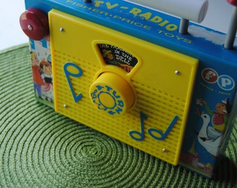 Fisher Price/Vintage Toy TV/Radio/The Farmer In The Dell/1973/Vintage Fisher Price Toys