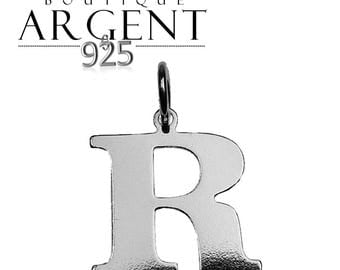 Silver 925 charm letter R initial name
