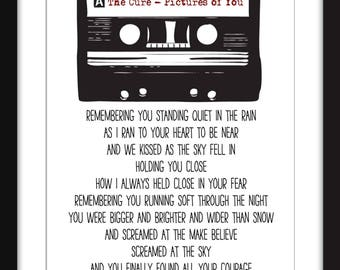 The Cure Pictures of You Lyrics Unframed Print