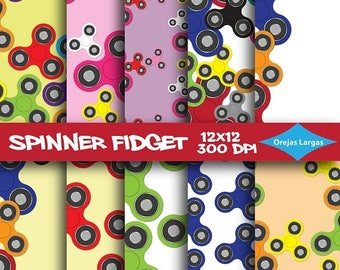 50% SALE Spinner fidget digital paper, spinner scrapbook paper, fidget spinner toy for kids, spinner maddness, childrens toy spinners, spinn