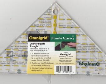 New Omnigrid Quilting Quarter Square Triangle