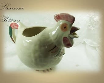 Vintage 1940s Shawnee Pottery Chanticleer Rooster Pitcher