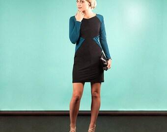 Dress Ipsalle at Chilia Cotton spandex and Lycra indigo blue