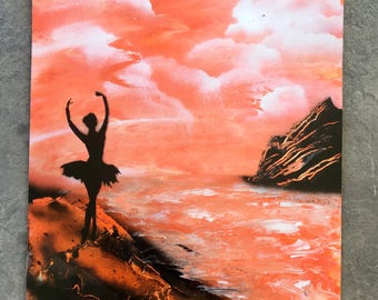 Ballerina Spray Paint Art