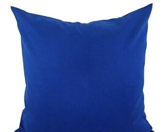 15% OFF SALE Solid Royal Blue Decorative Pillow Cover - Blue Pillow Cover - Linen Pillow Cover - Solid Cobalt Pillow - Custom Pillows - 20 x