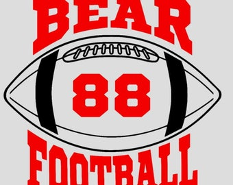 Bear Football - Add the jersey number of your favorite player