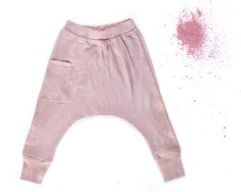 Girl Toddler Harem Pants - Toddler Girl Clothes, Girl Toddler Clothes, Toddler Girl Leggings, Girl Toddler Pants, Girl Pants - Blush Pink