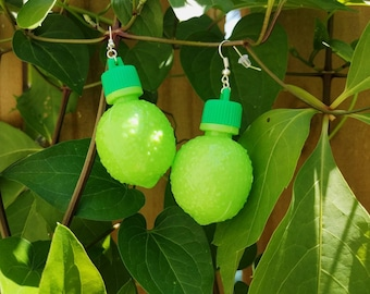 90s Lime Earrings Fruit Candy vintage inspired mod 60s