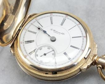 Vintage Hartman and Co Pocket Watch, Hunter Pocket Watch, Watch Collector WYM0KR28-C