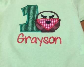 Watermelon picnic basket birthday Shirt - picnic birthday shirt - Picnic Basket Ant Birthday Shirt
