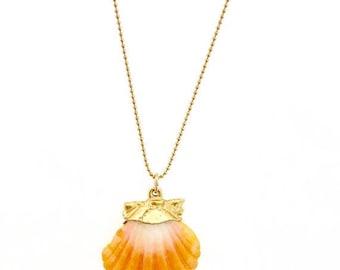SUMMER SALE Sunrise Shell Necklace