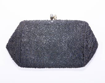 1940's Black Evening Clutch