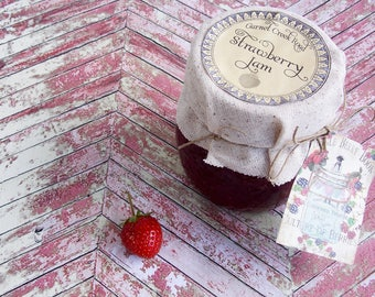 Strawberry Jam ~ 8.5 oz. ~ Strawberry Preserves ~ Artisanal Jam ~ Small Batch ~ Handcrafted Jam