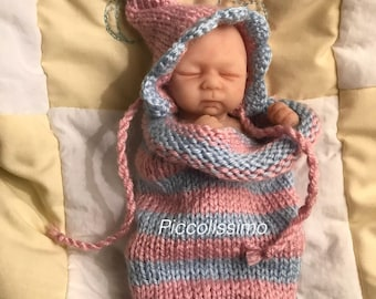 """7"""" pink and blue cocoon"""