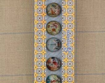 Buttons SAJOU Theme FRENCH Buttons w/ Box -Free US Shipping!!!