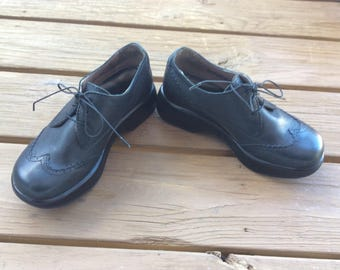 Vintage platform oxfords creepers funky shoes size 7 retro