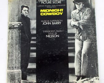 Midnight Cowboy Original Motion Picture Score Vinyl LP Record Album UAS 5198
