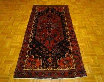 """3'5"""" x 6'7""""  Hand Knotted Tribal Persian Rug #S156"""