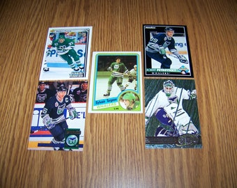 25 Hartford Whalers Hockey Cards