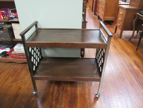 Mid Century bar cart for cocktails or??