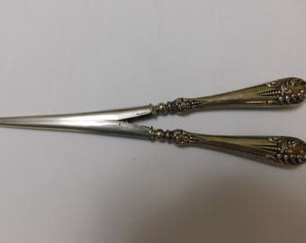 Antique F & B Sterling Silver Handle Glove Stretcher