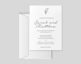 Wedding Invitation | Wedding Stationary Suite | Custom Printable Download | Floral Wedding Invitation | elegant Wedding Invite