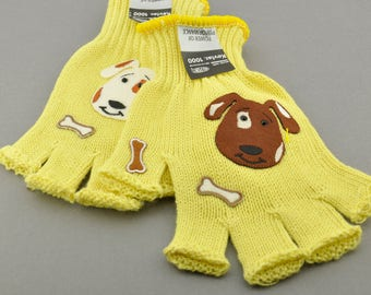 Kevlar Fingerless Gloves - Small - Dogs and Rhinestones