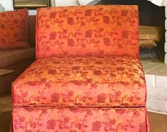 Vintage Hollywood Regency Venetian Armless Slipper Chair
