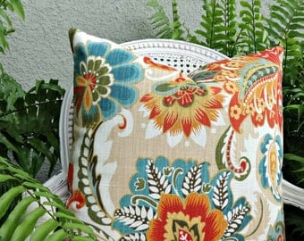 Richloom R Gallery Ayers Pillow Cover Linen/ Custom 20x20 Pillow Cover/ Designer Toss Accent Pillow/ Custom Linen Pillow Cover