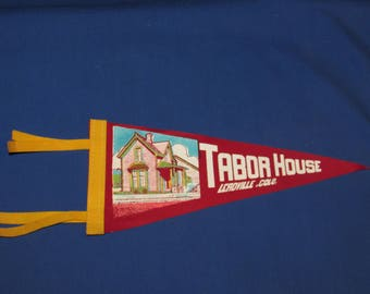 TABOR HOUSE LEADVILLE Colorado Pennant Small Felt Vintage Souvenir Pennant