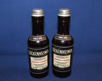 SALT AND PEPPER Guckenheimer Whiskey Bottles