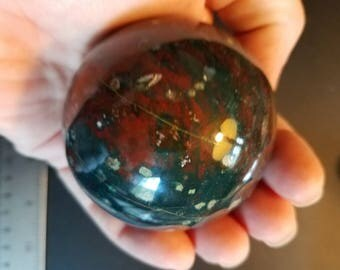 Large Indian Bloodstone Sphere