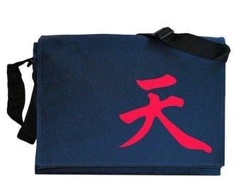 ON SALE Akuma Gouki Infinity Immortal Symbol Navy Blue Messenger Shoulder Bag